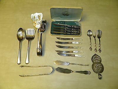Vintage Silver Plate Flatware Lot 19 Pieces