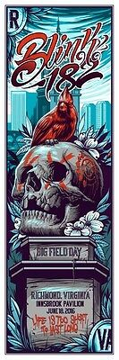 blink 182 Richmond Field Day Maxx Poster Limited Edition 81/182