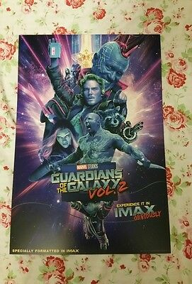 GUARDIANS OF THE GALAXY 2 IMAX Poster Mint Condition!