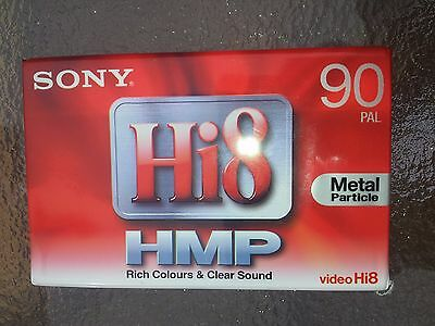 SONY Hi8 Video Cassette Tape - 90 PAL - HMP - Metal Particle tape