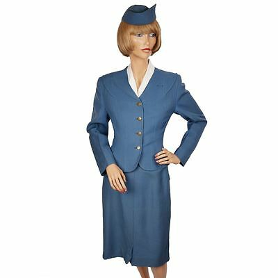 Vintage 50s TCA Airline Stewardess Uniform 1955 Flight Attendant Air Canada