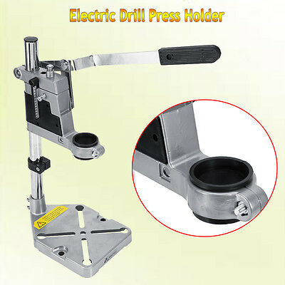 Universal Electric Drill Vetical Stand Press Drilling Frame & Cast Metal Base AU