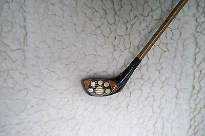 Antique Vintage Hickory Shaft Fancy Face 3BB MacGregor Driver Real Tusk Dots