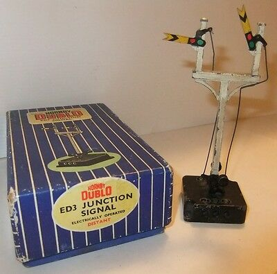 HORNBY DUBLO ED3 electric Distant Juntion Signal (Boxed)