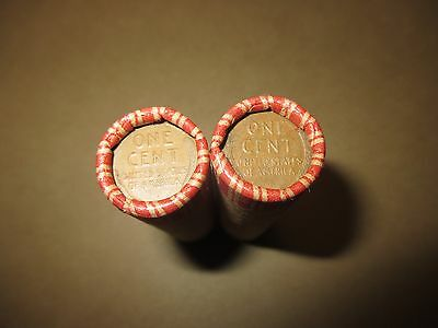 2 Mixed Wheat Penny Shotgun Rolls! Wheat Cents! 1909-1958 100 Coins PDS Lot I822