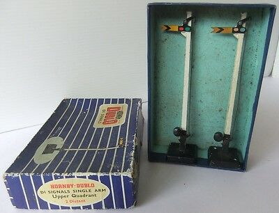 HORNBY DUBLO D1 Single Arm Distant Signals - (Boxed)