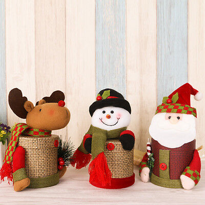 Lovely Christmas Gift Box Santa Snowman Rreindeer Xmas Party Box For Candy Cakes