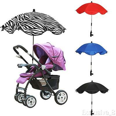 Baby Stroller Pushchair Wheelchair Umbrella Sun Shade Parasol Rain Canopy Cover