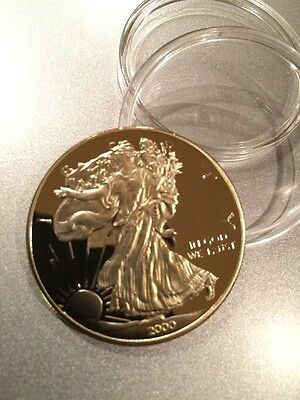 American Eagle Gold Plated Bullion Coin. 100 Mills .999 Fine Gold