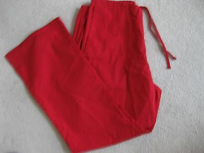 Red Scrub Ladies Uniform Pants - Size Medium