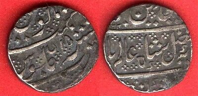 French india Silver Rupee 1800 - 1219  yr 45 # 15 VF-EF toned RARE