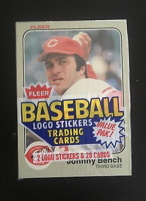 1983 Fleer Baseball Cello Pack W Johnny Bench Showing On Top