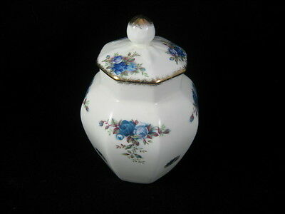 Rare Vintage Royal Albert Moonlight Roses Lidded 8 Sided Jar
