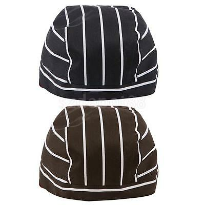 2pcs Classic Chefs Skull Cap Chef Hat Professional Catering Do Tie Chef Cap
