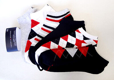 TOMMY HILFIGER Women's Ankle Socks 6 Pairs Cotton Blend Multi-Colors - New!