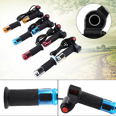 12V-72V LED Digital Scooter E-bike Throttle Speed Handle Grip Handlebars SE