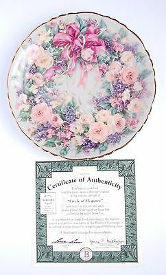 Bradford Exchange Lena Liu Circle of Elegance Plate 2nd Issue Floral Greetings