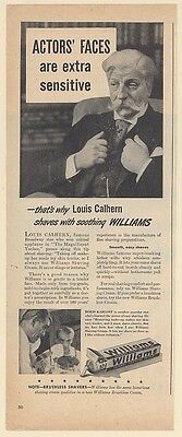 1947 Louis Calhern Shaves with Williams Shaving Cream Print Ad