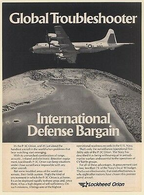 1981 Lockheed P-3C Orion Aircraft Global Troubleshooter Print Ad