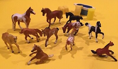 Awesome Collection Of Breyer Mini Horses - 11 Figures! + Accessories LOT