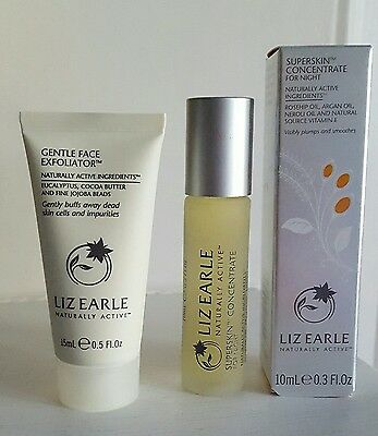 Liz Earle Rollerball Superskin Concentrate 10ml & Gentle Face Exfoliator 15ml
