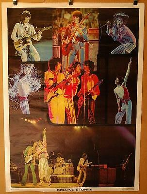 "Huge Vintage 58"" x 42"" Rolling Stones One Stop Posters 1976 Jagger Andy Sackheim"