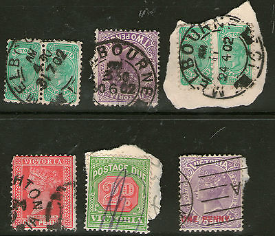 Victoria 6 state stamps Collection Lot AA