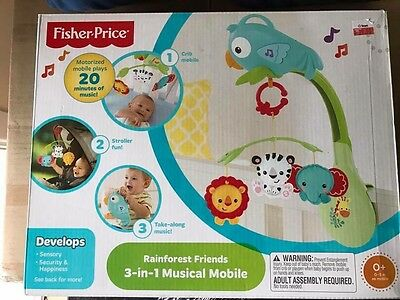 Fisher Price Cot Mobile 3 In 1. Brand New