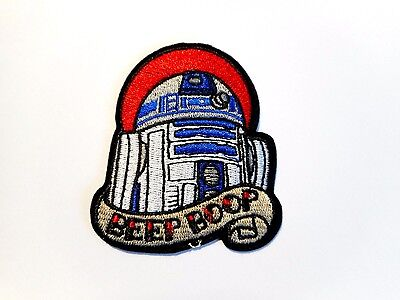 1x Star Wars R2D2 Patch Embroider Cloth Patches Applique Badge Iron Sew On Beep