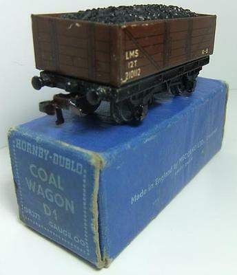 HORNBY DUBLO 3 rail DR372 LMS Open Wagon with coal load (Boxed)