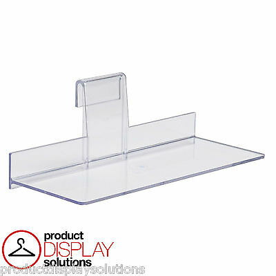 "Grid Gridwall Acrylic Flat Shelf 4"" X 10"" 
