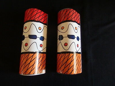 2 Retro Wall Pockets / Vases