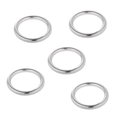 5pcs 304 Stainless Steel Polished Welded Round O Ring 15 - 35mm Dia. Marine Boat