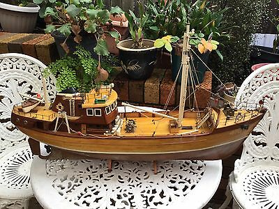 Wooden Handmade Model Boat Could Restore For Lake Use