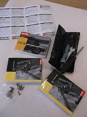New, Genuine Aprilia Sr 50 Carb Owners Manual, Service Book And Tool Kit