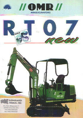 Shovel brochure, escavatore OMR Rt 07