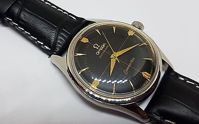 Beautiful Rare 1958 Omega Seamaster Black Dial Automatic Man's Watch