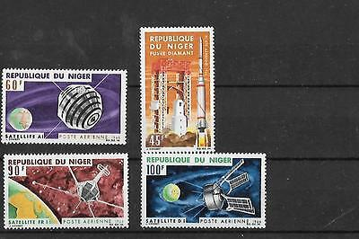 NIGER, SC C58-61, 1966 French Space Achievements, complete set of 4. MNH.