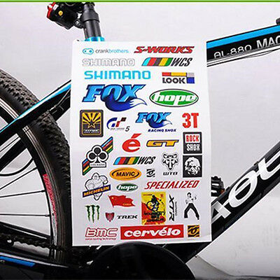2 Bicycle Cycling Sticker Mountain Bike Skateboard Decal Fashion Stickers WN
