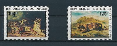 NIGER, SC C215-16, 1973 Delacroix Paintings Airmail issue, comp set of 2. MNH.