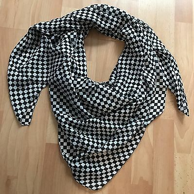 Foulard THE KOOPLES Noir et Blanc Damier Neuf Authentique
