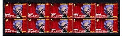 Dame Edna Everage Aust Icon Strip Of 10 Mint Stamps 5