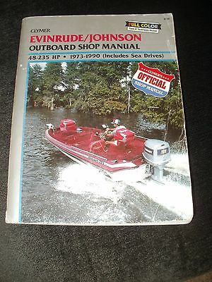 EVINRUDE JOHNSON 48 235 HP OUTBOARD ENGIN SEA DRIVES ENGINE Owners Repair Manual