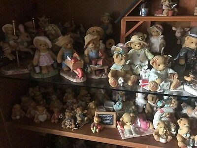 cherished teddies job lot. Stored in a glass case therefore nearly-new condition
