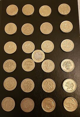 Great British coin hunt £1 collection. Full set of 25 x 1 pound coins.