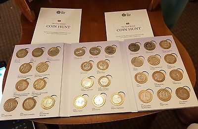 The Great British £2 Pound Coin Hunt Album With 37 Coins