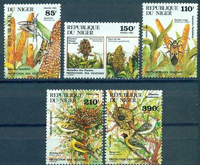 NIGER, SC 692-696, 1985 Pests and Plant Protection issue. MNH. CV $9