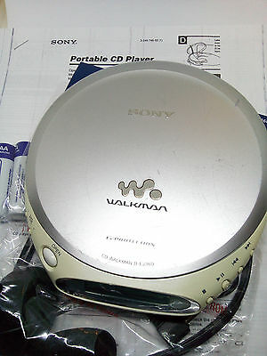 Sony D-EJ360 CD Walkman Discman Compact Disc Personal Player Stereo - Silver