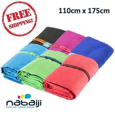 NABAIJI Ultra Compact Light Microfiber Towel 110 X 175 CM, Highly absorbent XL
