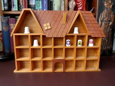 Vintage Wooden Cottage Style Thimble Display Case - Thimbles - Display Cases